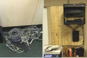 Network Switch Before and After